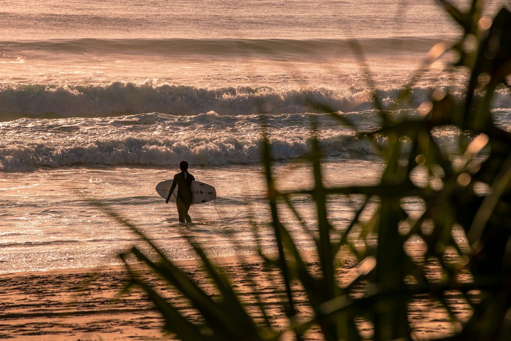 Early morning surf on the Gold Coast